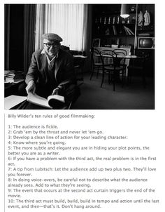Billy Wilder: Film making IN145
