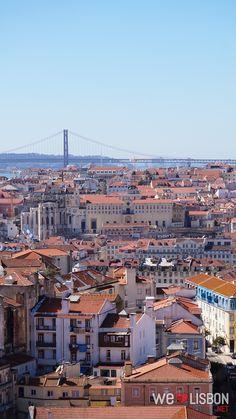 Lisboa vista da Nossa Senhora do Monte.