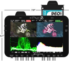 """Convergent Design - Odyssey7Q  Monitor/Recorder - The Odyssey family is a professional 7.7"""" OLED monitor with high-end monitor features, including Waveform, Zebras, Histogram, Vectorscope, Focus Assist, False Color, Timecode Display and Audio Level Meters, and 1:1 Pixel mode. As you have come to expect from Convergent Design, Odyssey is low power, lightweight and comes in a rugged magnesium case."""