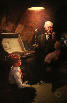 Thanks For The Memories: Norman Rockwell's Paintings Shed Light On Thanksgiving And The History Of Electric Illumination In America - GE Reports Norman Rockwell Prints, Norman Rockwell Paintings, Munier, Art Through The Ages, Pictures To Paint, Famous Artists, American Artists, Artist Art, Photo Art
