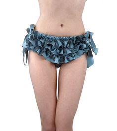 f6222058df1cd Cream silk ruffled knickers - 100% silk panties