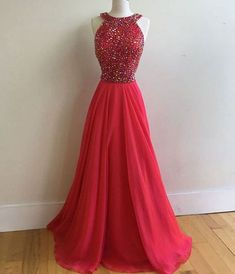 Charming Prom Dress,Sexy Red Prom Dress,Backless Tulle Prom