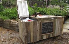 Turn An Old Refrigerator Into A Fun Outdoor Party Cooler And Bar