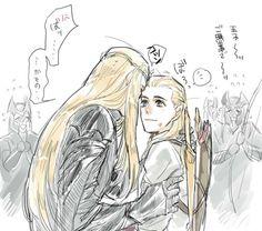 Thranduil & Legolas by きゃた