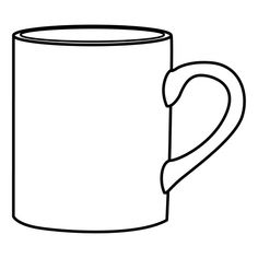 Coffee Cup Coloring Page - √ 24 Coffee Cup Coloring Page , Christmas Coffee Cups Coloring Pages Super Coloring Pages, Bear Coloring Pages, Mother's Day Printables, Middle School Libraries, Mug Rugs, Line Drawing, Doodle Art, Coffee Cups, Stencils
