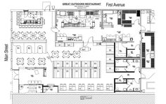restaurant interior design floor plan - Tìm với Google