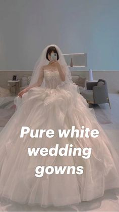 Wedding Dreams, Dream Wedding, White Wedding Gowns, Pure White, Spring Wedding, Beautiful Bride, Ball Gowns, Pure Products, Weddings