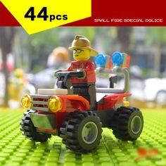 Barato 44 pçs/caixa nova chegada 2015 os bombeiros buliding tijolos blocos brinquedos compatível com LEGO minifigure a cidade da polícia do fogo, Compro Qualidade Blocos diretamente de fornecedores da China:             Instruções                             Ele sem caixa Obrigado