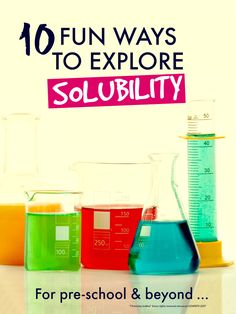 Fun science experiments for kids to explore lots of different aspects of solubility ... fab for pre-school and up #STEM #pre-k