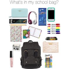 """""""What's in my school bag?"""" by summergirl0622 on Polyvore"""