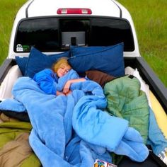 Star gazing/camping out with a loved one in the bed of a truck with tons of blankets and pillows while its kind of chilly outside.