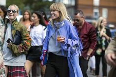 Copenhagen Fashion Week's Street Style Parade Photos | W Magazine