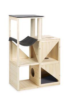 "Wooden cat tree ""Scandinavie"" by Beetztees pondanimals How To Clean Furniture, Pet Furniture, Furniture Cleaning, Furniture Movers, Furniture Removal, Cat Gym, Diy Cat Tree, Wooden Cat Tree, Cat House Diy"