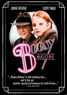 Bugsy Malone - Written and Directed by Alan Parker; Starring Scott Baio as Bugsy Malone and Jodie Foster as Tallulah Musical Film, Film Movie, Hd Movies, Movies Online, Movies And Tv Shows, Cult Movies, Musical Theatre, Movie Theater, Jodie Foster