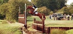 William Fox-Pitt on Idalgo clears the Cottesmore Leap at Burghley Horse Trials, 2006