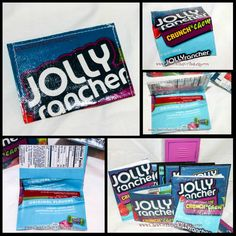27 best id card holders images on pinterest card holders coin jolly rancher buisness card upcycycled mini wallet recycled gift card holder id card case credit card wallet bus pass holder reheart Gallery