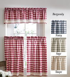 Buffalo Check Primitive Country Curtains