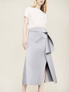 Skirt is great! Open to wrap skirts as long as the fabric is not thin or jersey. I like the idea of jersey for a flow-y silhouette but not for much else.