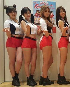 AOAメンバーの足の太さがよく分かる比較画像