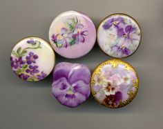 Hand painted buttons