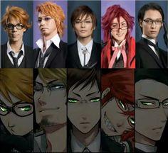 The grim reapers of Kuroshitsuji and their cosplayers