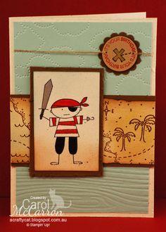 =A Crafty Cat: Stampin' Up! Ahoy Matey Boy's Birthday Card 1