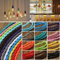 This is our twisted italin 3 core fabric cable and comes in a range of easily matchable colours, enough to bring a modern fresh twist to any room. It comes double insulated and there are 10 colours available to choose from. | eBay!