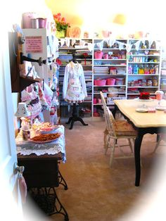 The Beehive Cottage craft room.