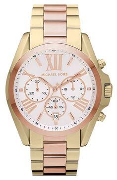 gold/rose gold Michael Kors watch
