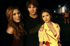 "Steven R. McQueen and Nina Dobrev - Nina Dobrev co-stars with Steven R. McQueen on ""The Vampire Diaries"". The Vampire Diaries 3, Vampire Diaries Seasons, Vampire Diaries The Originals, Michael Malarkey, Michael Trevino, Stefan And Caroline, Mystic Falls, Vampire Dairies, Paul Wesley"