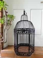 Iron Handmade Ornamental Bird Cage Wedding Wishing Well Large size BLACK HYL016L