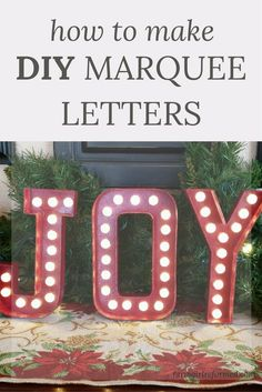 Diy Marquee Sign Using Paper Mache Letters From Joanns And Led