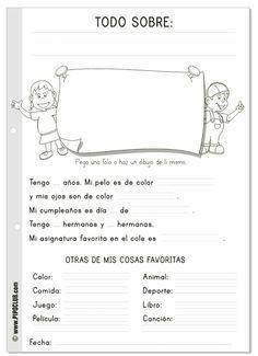 """Ficha """"Todo sobre mi"""" as desde el blog de los juegos educativos -- FREE to download  print!:"""