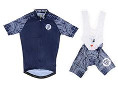 Attaquer's overwhelmingly popular Paisley cycling kit is now available in a rather sophisticated navy blue.