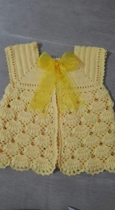 Best 12 Crochet Baby Dress Pattern, First Outfit Easter Baby Shower Gift, Welcome Baby Girl, Chevron Infant Crochet Dress Pattern Months – SkillOfKing. Crochet Baby Cardigan, Knit Baby Sweaters, Crochet Baby Clothes, Diy Crafts Knitting, Diy Crafts Crochet, Crochet Projects, Baby Knitting Patterns, Baby Patterns, Hand Knitting