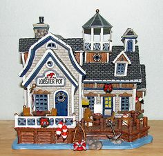 Lemax Plymouth Corners Christmas Village Lighted Building LOBSTER POT #55265