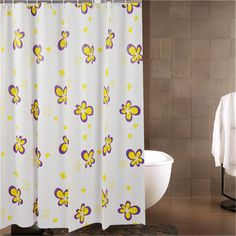 New Bath Curtains Waterproof Shower Bathing Products Flower Printed Bathroom Curtains with Hooks for Hotel Home Decorations M18 #Affiliate