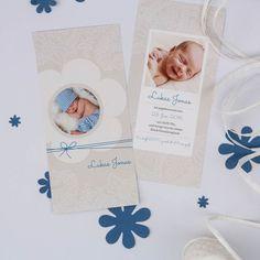 Sinala Blau | Geburtskarte - Postkarte DIN Lang Hochformat