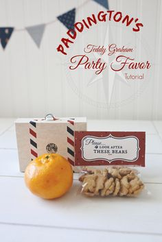 Paddington Bear Party Favors- Teddy Grahams! (Inexpensive and easy!)