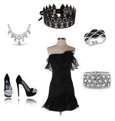 """""""Untitled #97"""" by chernjay on Polyvore featuring Marchesa, Reiko, Bling Jewelry, Mark Broumand, women's clothing, women, female, woman, misses and juniors"""