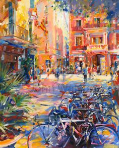 John Walsom. Barcelona, Oil on Canvas. Original painting and Limited Edition Prints