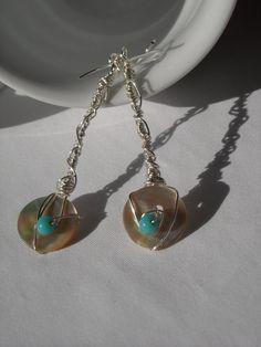 dangle button earrings
