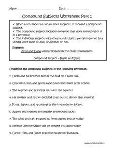 subject and predicate worksheet underlining part 1 intermediate board. Black Bedroom Furniture Sets. Home Design Ideas