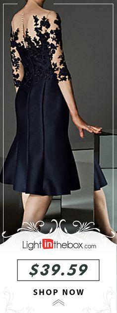 Women's Daily Elegant Sheath Dress - Floral Lace B Plus Size Black Dresses, Dress Outfits, Fashion Dresses, Black Sweater Dress, Moda Paris, Frack, Classy Dress, Lace Tops, Elegant Dresses