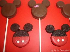 Mickey Mouse oreo pops... love this idea!