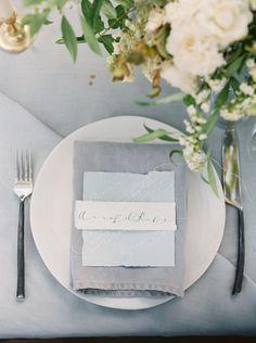 i like the grey/green/white with the napkin fold
