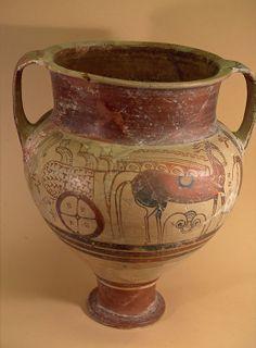 cratere mycenien d'origine greque vaisselle d'apparat