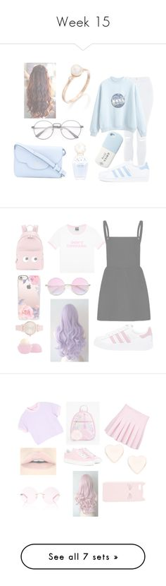 """""""Week 15"""" by phandanandphil on Polyvore featuring Topshop, adidas, Marc Jacobs, Kate Spade, adidas Originals, Anya Hindmarch, Casetify, Vivani, Eos and Ted Baker"""