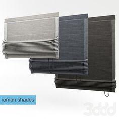 3d модели: Шторы - римская штора