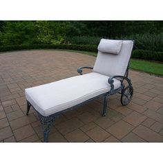 Explorer Cast Aluminum Chaise Lounge with Cushions